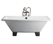 Barclay Athens Cast Iron Tub With Wooden Blocks CTSQH67-WH