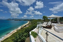 A photograph of the view from Marine Terrace, Baie Rouge, Saint Martin