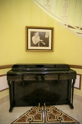 Princess Grace's Piano on display at Breezes Bahamas