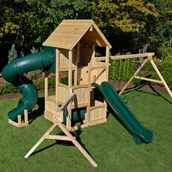 Cedar swing set by Triumph Play Systems