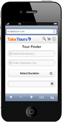 TakeTours mobile site