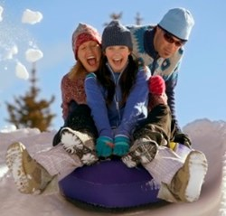 At Mountain High Snow Tubing Park in Southern California family fun just happens.