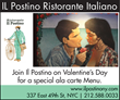 Il Postino Offers Special Menu for Valentine's Day