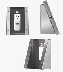 The Wedge iPad Wall Mount by ArmorActive provides an ADA solution for iPad kiosk wall mounts.
