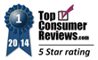 Spa Finder Service Receives Highest 5-Star Rating From TopConsumerReviews.com