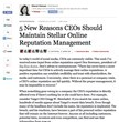 Online Reputation Management Expert Don Sorensen's Advice to CEOs...