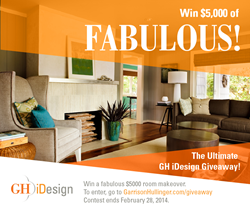 Ultimate GH iDesign Giveaway, $5000 online interior design services award