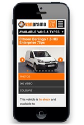 Vanarama unveils its responsive design website