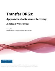 BESLER Consulting today announced the publication of a white paper focused on Medicare Transfer DRG underpayments. The white paper reviews the history of Transfer DRGs, why underpayments occur and what hospitals can do to recover them. To download a copy