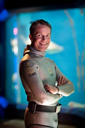Fabien Cousteau at The Maritime Aquarium.