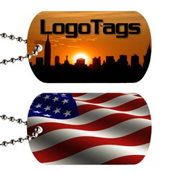 custom dog tags, teslin dog tags, plastic dog tags, LogoTags custom dog tags