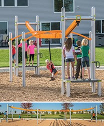 ZipKrooz™ is the world's best inclusive zip line for playgrounds.