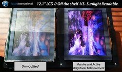 Sunlight Readable vs. Standard COTS Display
