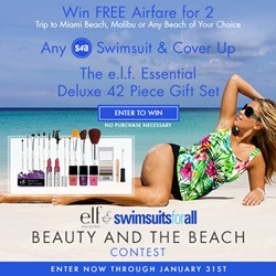 Win a Dream Vacation Giveaway by e.l.f Cosmetics and swimsuitsforall