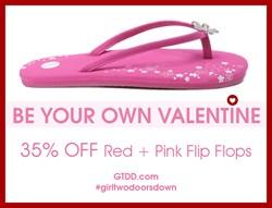 Girl Two Doors Down Bling Flip Flops