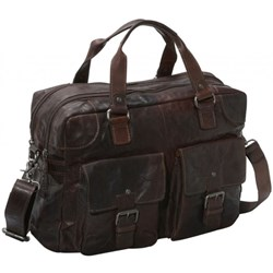 Jack Georges Spikes & Sparrow Double Gusset Top-Zip Leather Briefcase, best quality from Europe