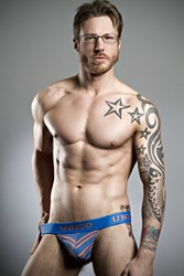 Mr Gay UK Stuart Hatton  in new Mundo Unico from the latest Deadgoodundies shoot.