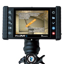 iRis DVR 5 Industrial Video Borescope or videoscope is perfect for tough industrial borescope inspections