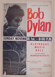 1964 Bob Dylan Kleinhans Music Hall concert poster