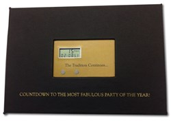 Picture of Invitation to Clive Davis Grammy Party Featuring TimeFlyz Save The Date Timer