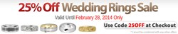 Gold Wedding Rings at 25% Off