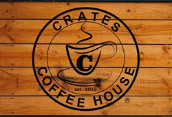 Crates Coffee House logo, Lake Orion, Mich.