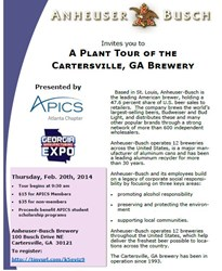 GME teams up with APICS Atlanta to sponsor tour of Anheuser Busch brewery in Cartersville, GA.