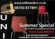 Discount Uni Chairs, Coffee Machines, Ice Cream Machines and More...