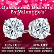 DiamondStuds.com - Guaranteed Valentine's Day Delivery