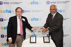 EHS President Jeffrey H. Lynford & NYU School of Engineering President and Dean Dr. Katepalli R. Sreenivasan
