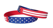 Silicon Rubber wristbands with red, white and blue
