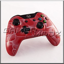 Red Swirl Xbox One Modded Controller