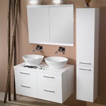 Beautiful Compact Double Sink Vanity Photos - 3D house designs ...