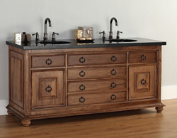 "James Martin Solid Wood 72"" Mykonos Double Bathroom Vanity 550-V72-CIN"