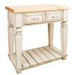 Table Style Kitchen Island by Jeffrey Alexander ISL10-FWH