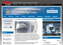 Krohne Mangnetic Flowmeter Portal at FlowControlNetwork.com
