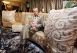 Sitting on shades of gold, Michael Douglas relaxes on one of Lux Lounge EFR's