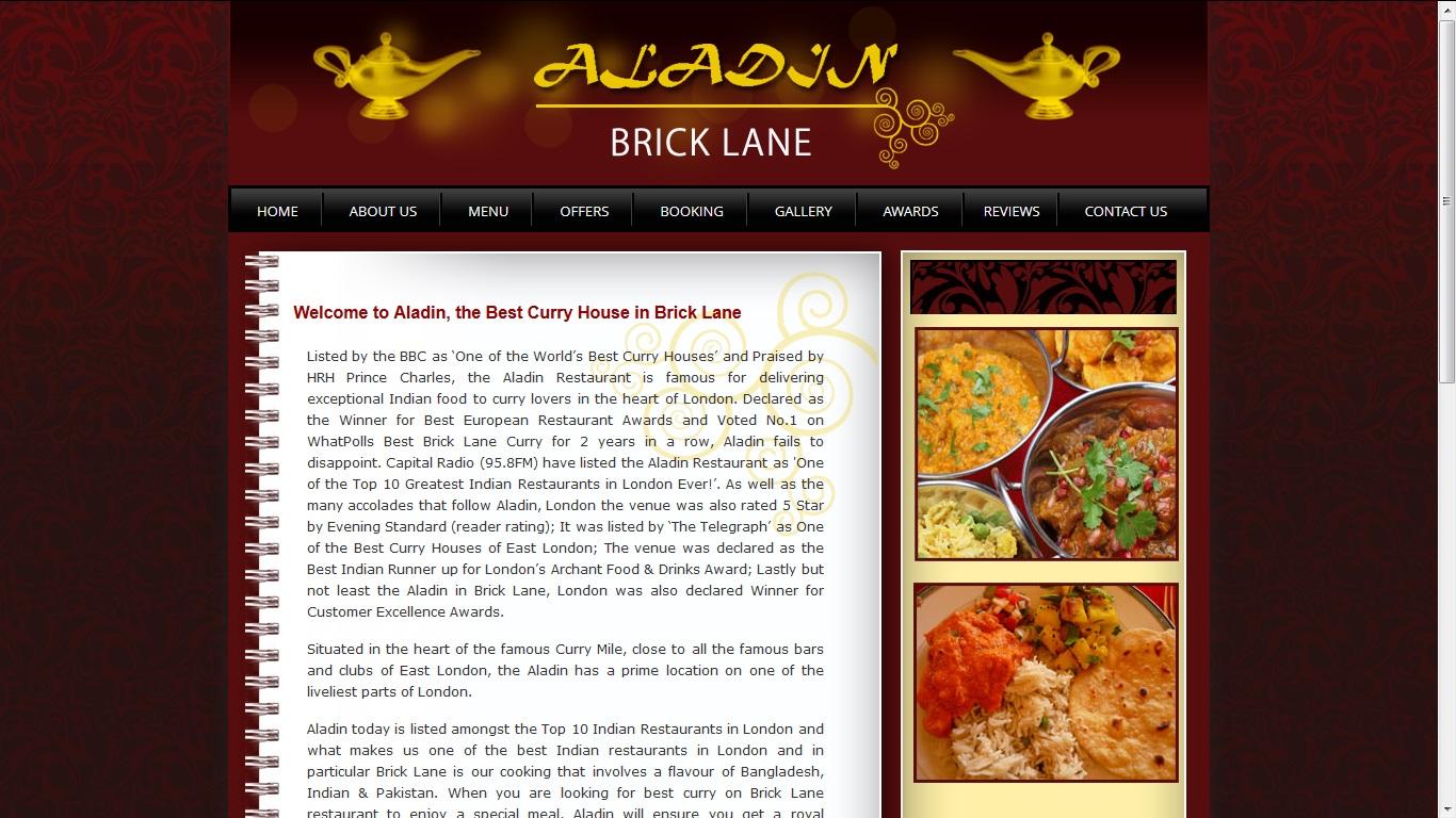 Best Curry Brick Lane >> Aladin Restaurant London Introduces Appetising Gluten Free