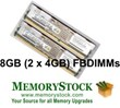 Dell PowerEdge Memory DDR2 FBDIMM 667MHz PC2-5300 and 533Mhz PC2-4200...