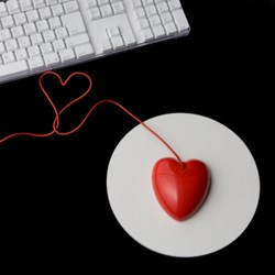 Valentines computer muse heart