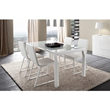 Rossetto Furniture Sapphire White Prisma Dining Table WITH EXTENSIONS from SAPPHIRE WHITE DINING collection, R348203000117