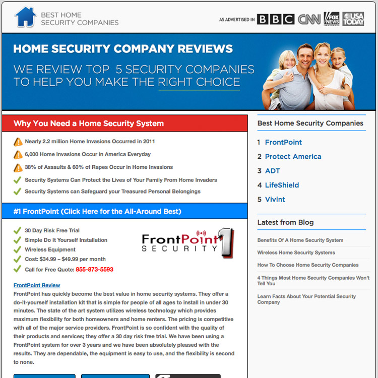 Security company reviews