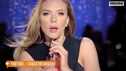 Scarlett Johannson promoting SodaStream