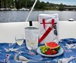 2-Bottle Insulated Sailcloth Wine Tote