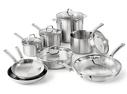 14 Piece Stainless Steel Cookware Set by Calphalon