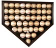 The author caught 24 balls at one spring training complex. His autographed collection -- shaped like a diamond -- includes some of the greatest baseball players of all time and many Hall of Famers.