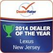 Prestige Lexus Named 2014 DealerRater® Lexus Dealer of the Year...