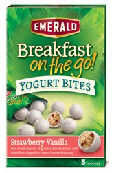 Image of Emerald® Breakfast on the go!™ Strawberry Vanilla Yogurt Bites