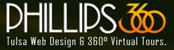 Tulsa web design firm Phillips 360 is now offering 360-degree virtual tours. Full details are available online at http://www.phillips360.com