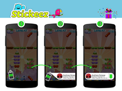 How Stickeez Native Ads Work
